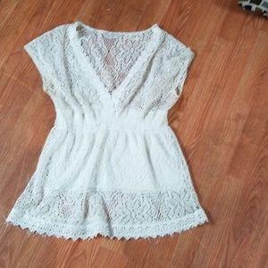 Shirts lace n cream